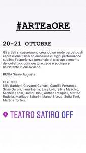 #ARTEaORE @ Teatro Satiro Off